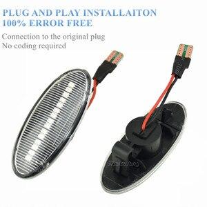 Image 5 - דינמי רכב ברור LED צד מרקר הפעל אות אור עבור ניסן הקאשקאי J10 x trail T31 קוביית Juke עלה micra Micra K13 הערה E11
