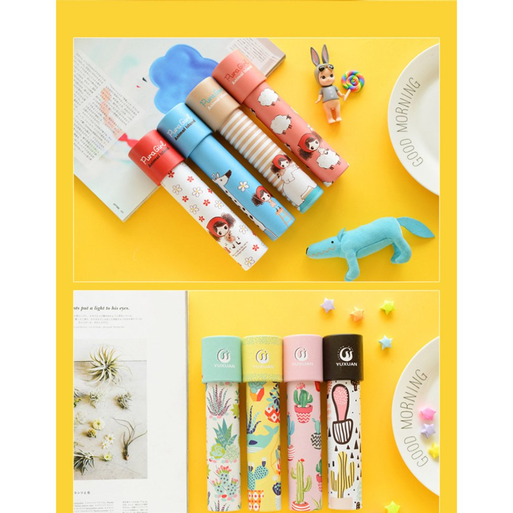 Rotation Kaleidoscope Portable Size Magic Changeful Fancy Colored World Toys