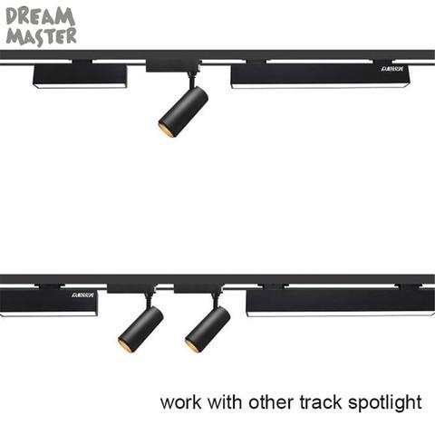 barra de diy luz industrial preto branco longo tira luminaria 120deg