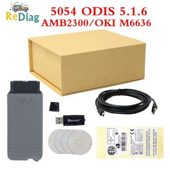 High Quality 5054A ODIS 5.1.6 Free Keygen 5054A UDS Protocols Bluetooth 5054 VAG Multi-Language Original AMB2300