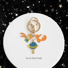 Modny mały książę brelok śliczny Fox Airpods wisiorek na ubrania plecak brelok breloczki Charms walentynki prezent