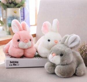 15cm/20cm kawaii bonito rosa coelho animais coelhos recheados brinquedos de pelúcia para presentes de aniversário das meninas do bebê