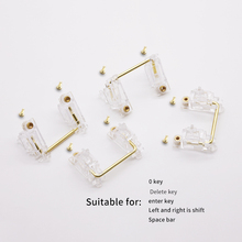 Free shipping Chosfox PCB Stabilizers Satellite Axis Screw-in Transparent Gold-Plated 6.25u 2u for Custom Mechanical Keyboards