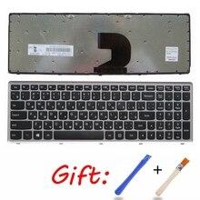 Teclado para ordenador portátil ruso y plateado, para Lenovo Z500 Z500A