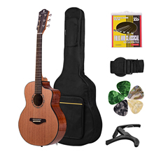 Acoustic Guitar 36 Inch Mahogany Wood Material with Gig Bag Strap Spare Strings Capo Picks Guitars Kit for Beginners