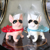 creative resin paper box crafts dog art figurines multi function decorative tissue boxes animal decorations ornaments
