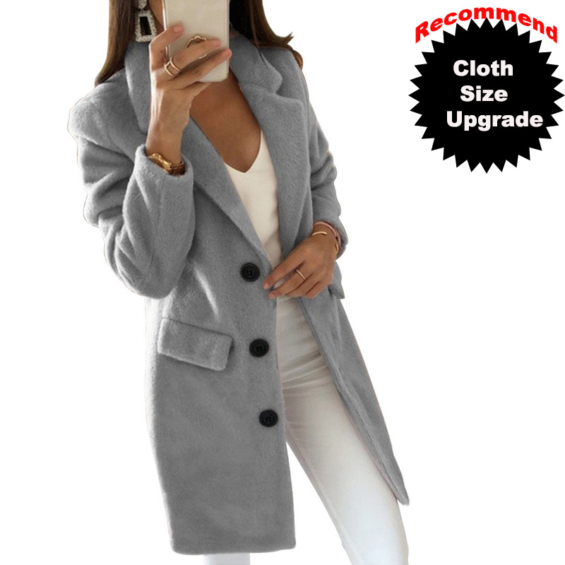 Новинка 2014! Женское длинное шерстяное пальто, осенне-зимняя приталенная куртка, женское однотонное пальто с отложным воротником, Casaco Feminino
