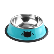 Pet-Bowl Food-Container Utensils Puppy Cats Feeder Feeding Dogs Stainless-Steel Kitten