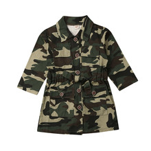 CANIS children's coat Toddler Baby Girls Clothes Camouflage Tops Coat J