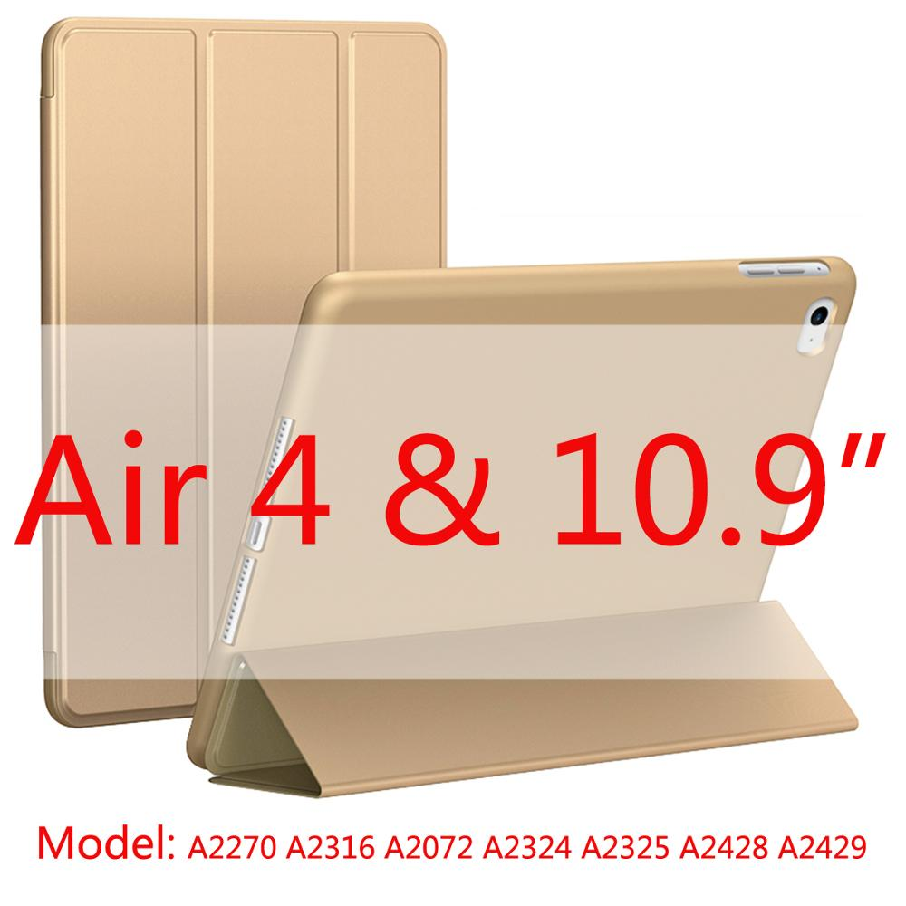 Gold-Air4 Blue 2020 New Soft Silicone Case For ipad Air4 with Smart Sleep Wake Funda Capa Case for