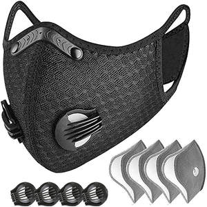 Reusable Mask Face-Cover Cycling Working-Essential Half-Face 4-Exhaust-Valves Outdoor