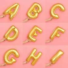 16-дюймовый шпилька письмо A-Z золотой шар с алюминиевой пленкой на день рождения вечерние ко Дню Святого Валентина Свадебный декор для свадь...