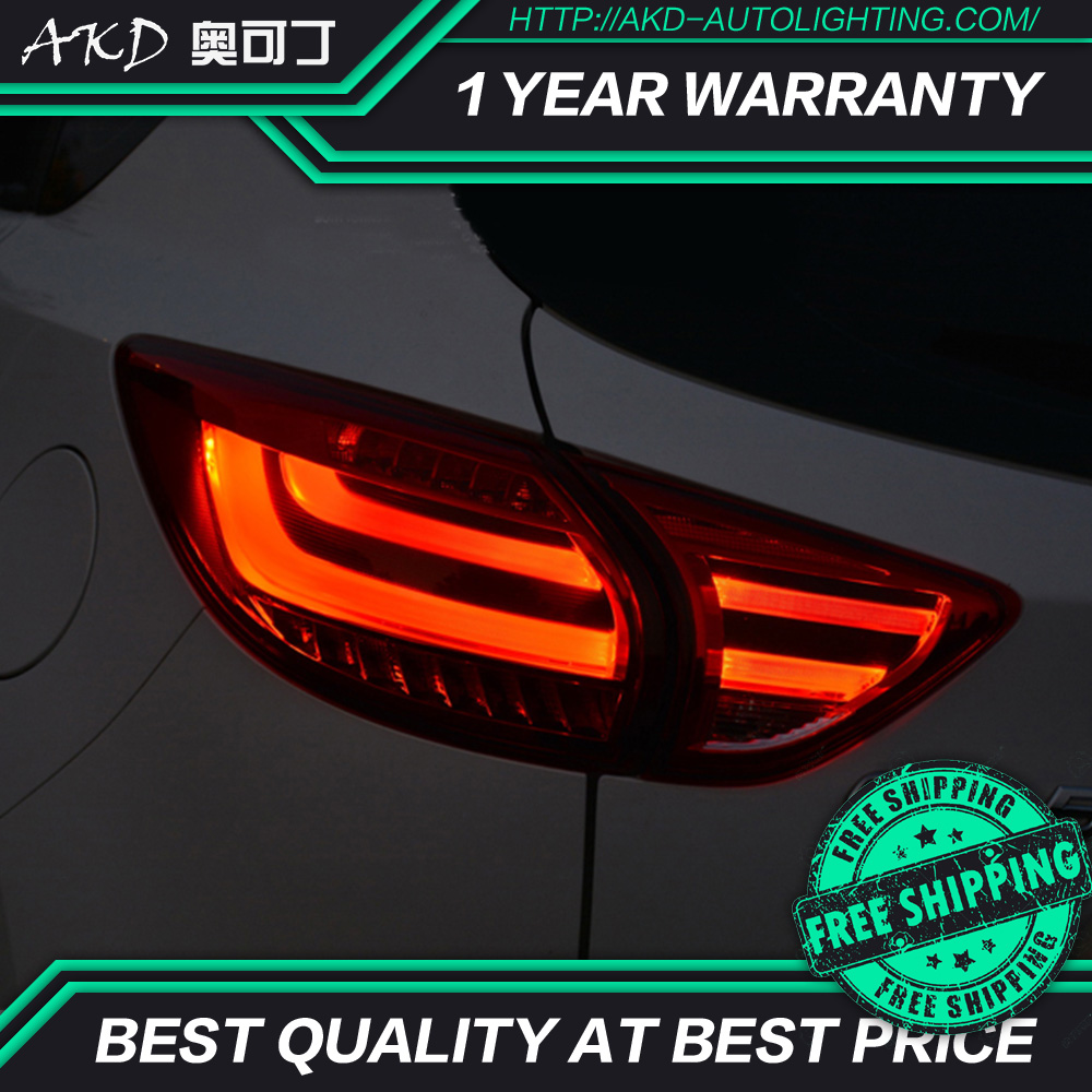 AKD tuning cars Tail lights For <font><b>Mazda</b></font> CX-5 <font><b>CX5</b></font> Taillights LED DRL Running lights Fog lights angel eyes Rear parking lights image