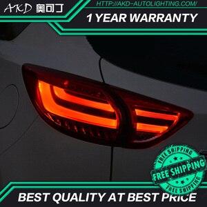 Luces traseras AKD tuning para Mazda CX-5 CX5 luces traseras LED DRL luces de marcha faros de niebla tipo Ojos de Ángel luces traseras de estacionamiento