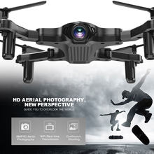 Clearance Cewaal Toy RC Drone 4CH 6-Axis Gyro 720P Drone FPV 2.4G WIFI Foldable Quadcopter One Key Return Real Time Transmission(China)