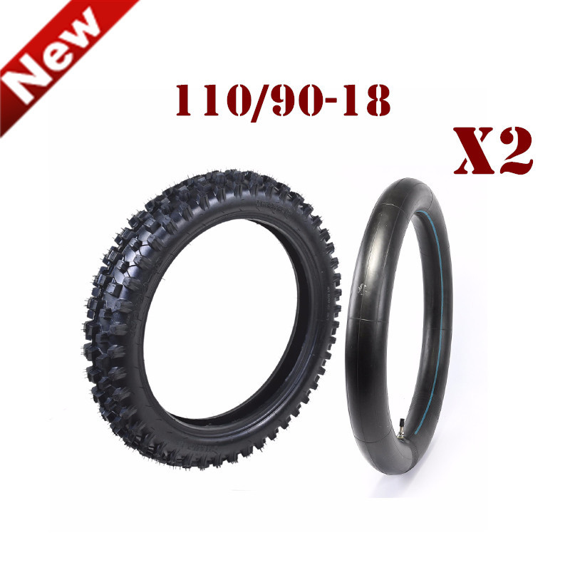2Pair Motorcycle Front or Rear 2.50-10 <font><b>Tire</b></font> + Tube 2.5-10 Tyre for Yamaha PW50 TTR50 DRZ70 Honda CRF50 XR50 Wheel 10 Pulgadas image