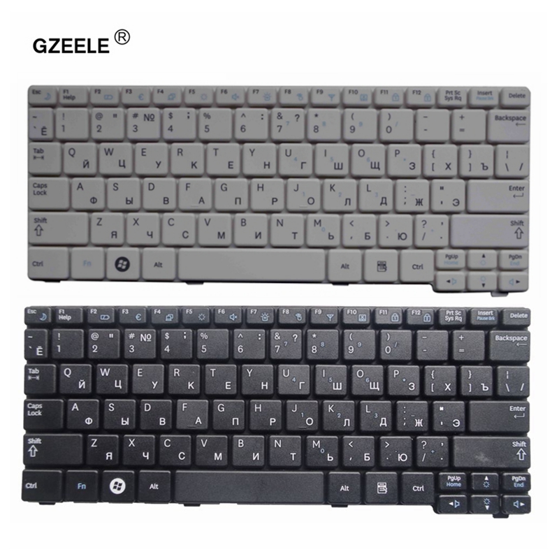 GZEELE NEW Russian Keyboard For Samsung N150 Plus N143 N145 N148 N158 NB30 NB20 N102 N102S NP-N145 Laptop Black/white RU Layout