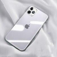 Funda de cristal de lujo para iPhone, funda suave de cristal templado transparente para iPhone 12, 11 Pro, XS, MAX, XR, X, SE, 7, 8, 6, 6S Plus