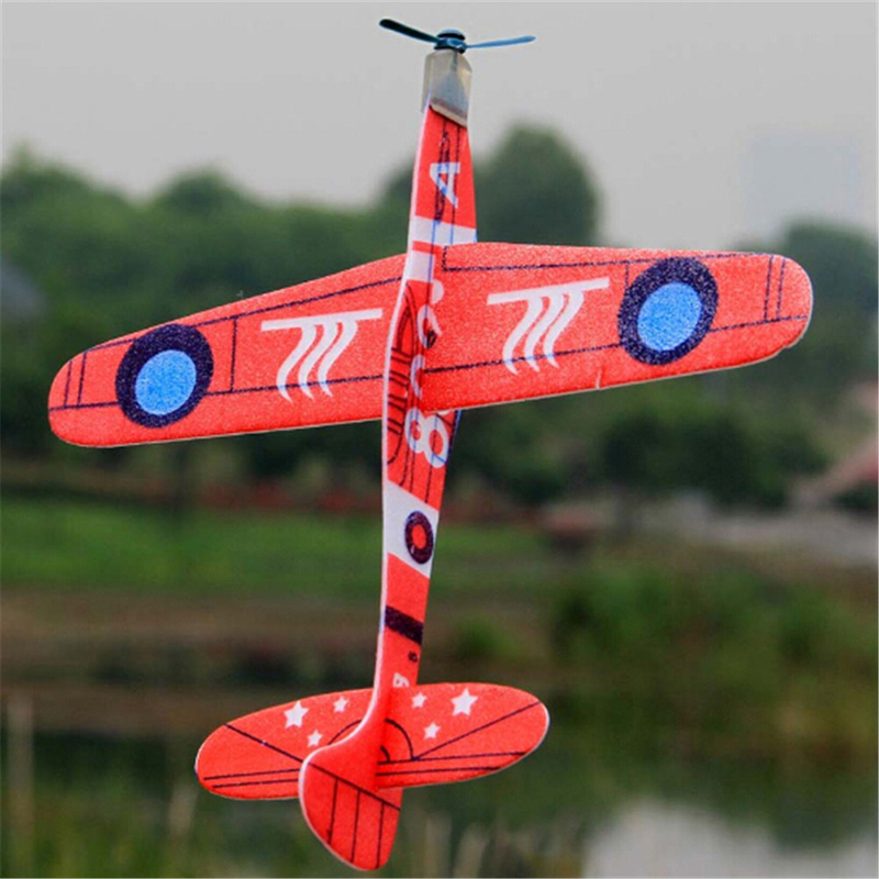 1PCS 19cm Hand Throw Flying Glider Planes EPP Foam Airplane For Kids Random Color Mini Drone Aircraft Model Toys Baby Toy