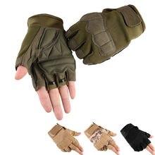 Велосипедные перчатки тактические с открытыми пальцами Военные