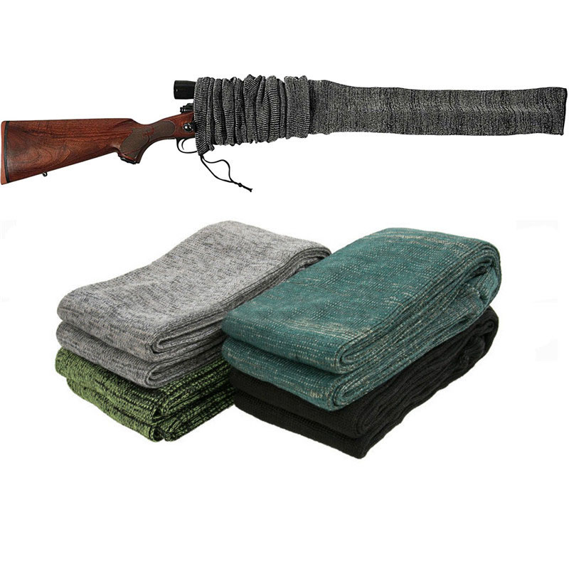 "54"" Silicone Treated Gun Sock Polyester Rifle Gun Shooting  Fishing Rod Sock Protection Cover Bag Case Tactical Hunting Caza"