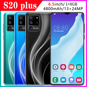 S20Plus Cross Border Mobile Phone New Style Hot Selling 1+8 Cross Border Hot Selling Smartphone Mobile Phone 6.5 Inch Manufactur