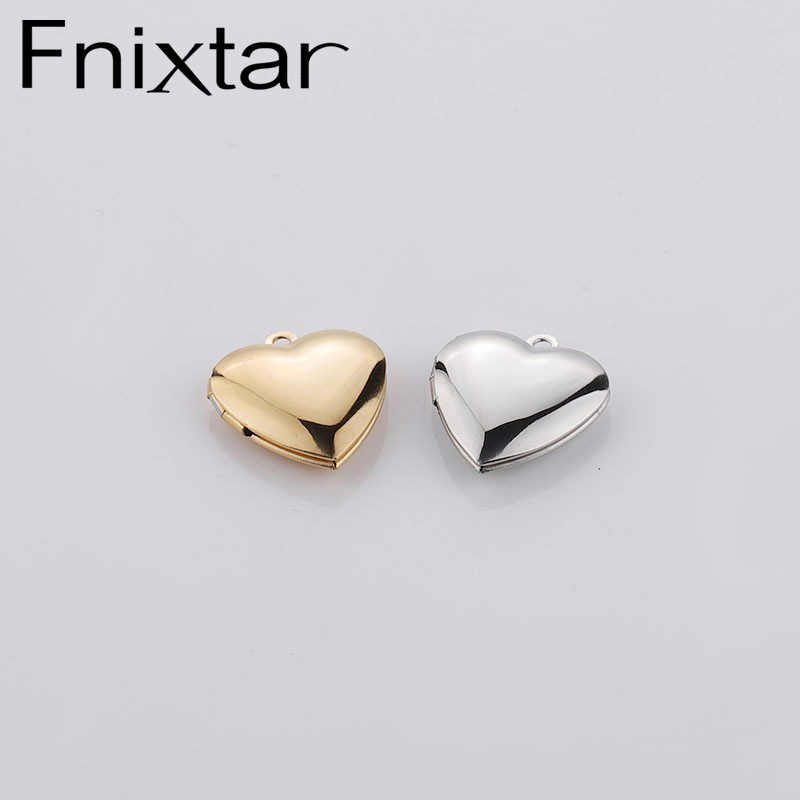 Heart Locket For making jewelry necklace bracelet stainless steel jewelry accessories wholesale price 2020