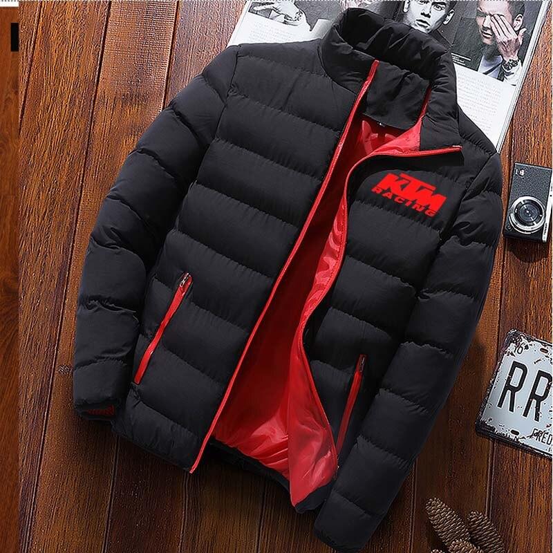 M-3xl Мужская мода станции воротник Мужская куртка-парка, Мужская одноцветная Повседневная Поло тяжелый, раздел-куртки и пальто мужское зимне...