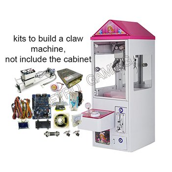 Crane Game Cabinet Machine DIY Kit claw game parts 28cm mini Gantry LED Joystick Buttons Harness Coin Acceptor Motherboard etc.