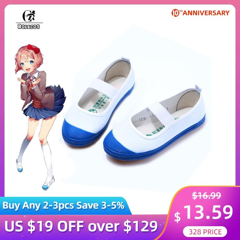 ROLECOS Doki Doki Literature Club Cosplay Shoes Japanese Anime School Shoes Girl Sport Shoe Toilet-bound Hanako-kun Yashiro Nene