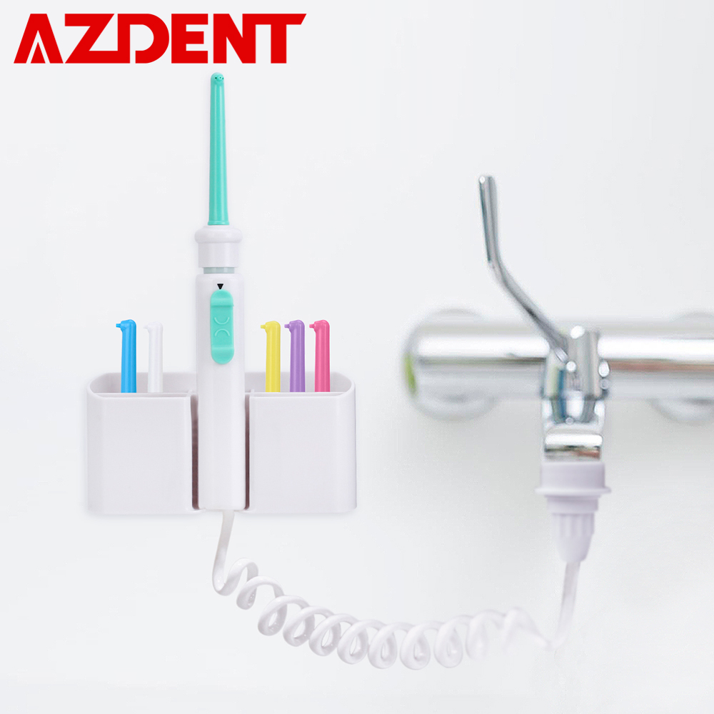 AZDENT 6pcs Nozzles Flexible Oral Irrigator Faucet Water Dental Flosser Water Jet Pick SPA Floss Cleaning Mouth Denture Cleaner