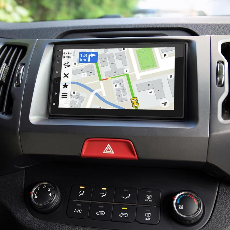 Android 8.1 <font><b>Car</b></font> Stereo <font><b>GPS</b></font> Navigation Fashionable Optional Reversing Rearview Function App Can Be Installed and Android Recorder image