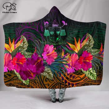 Polynesian Wild Blanket Hawaii style Blanket Hooded Blanket 3D full print Wearable Blanket Adult men women Blanket