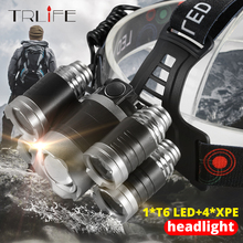 Brighest Headlamp Led Headlight XML 3/5 LED T6 Head Lamp Flashlight Torch head light use 18650 battery Best For Camping, fishing best price 8000lm led headlight xml 3 5 led t6 headlamp power rechargeable 18650 head torch waterproof for camping fishing