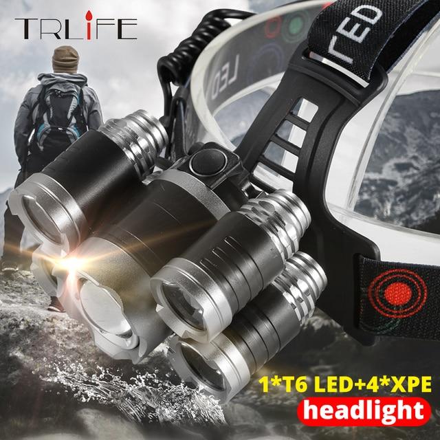 가장 밝은 헤드 램프 Led 헤드 라이트 XML 3/5 LED T6 헤드 램프 손전등 토치 헤드 라이트 사용 캠핑, 낚시에 가장 적합한 18650 배터리