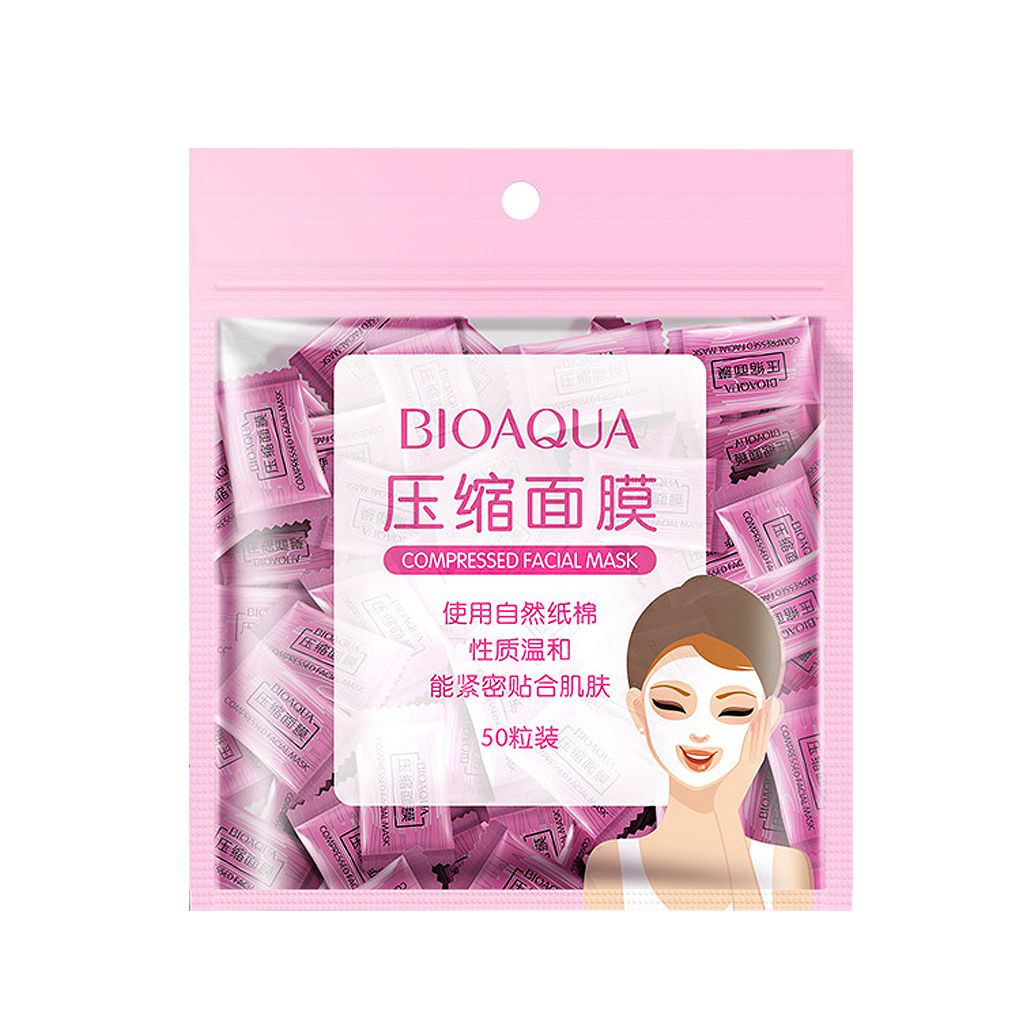50pcs/set Cotton Non-woven DIY Water-saving Facial Paper Compressed Masque Disposable Mask Sheet Tablets