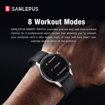 2021 SANLEPUS Smart Watch Bluetooth Call Smartwatch For Men IP68 Waterproof Watches Men's Wristwatch For Huawei Android iPhone 6