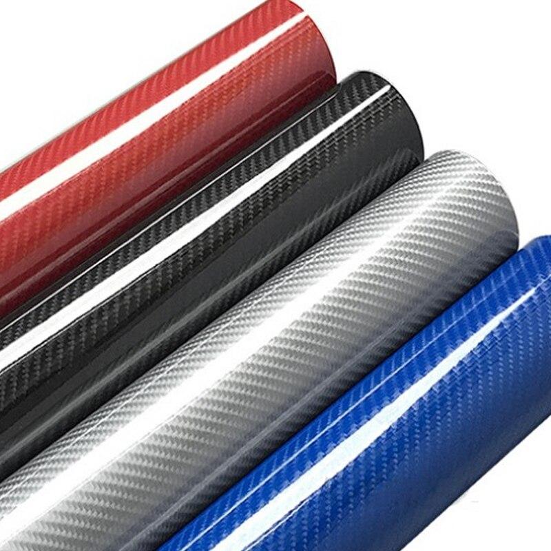 15 สี Premium Glossy 5D คาร์บอนไฟเบอร์ไวนิลฟิล์มสติกเกอร์ High Glossy Warp รถจักรยานยนต์อุปกรณ์เสริมรถยนต์รถยนต์