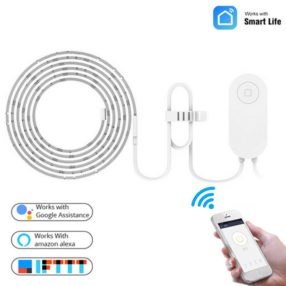 ZUCZUG Smart Light Strip 2m LED RGB For Home WiFi APP Works With Alexa Google Home Assistant 16 Million Colorful Light Strip