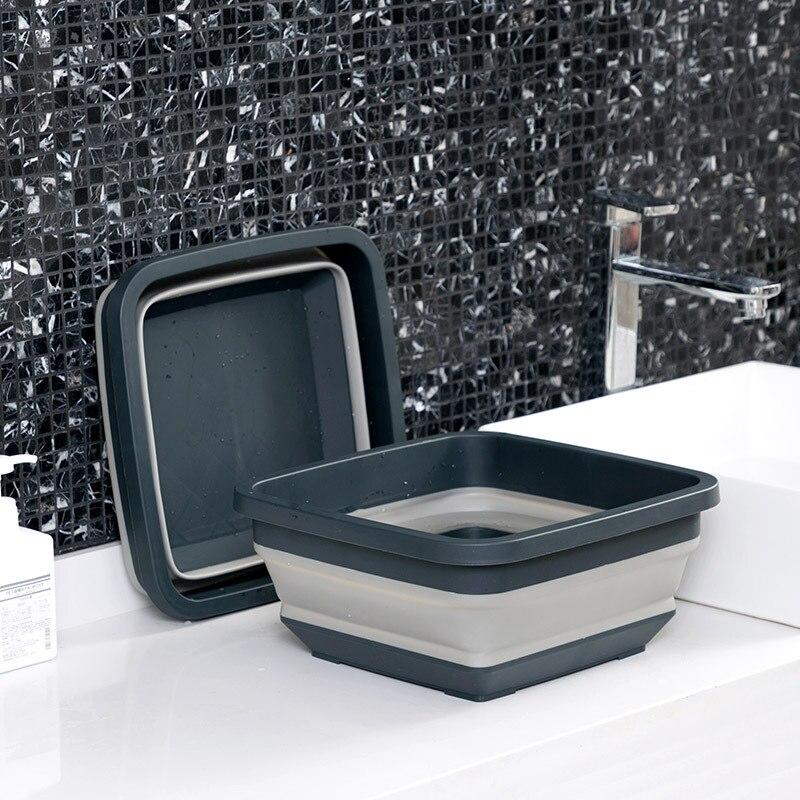 Складные пластиковые раковины для путешествий на открытом воздухе ведро для белья кухонная раковина для овощей выдвижной умывальник портативная Ванная комната продукты|Пластиковые и портативные тазы|   | АлиЭкспресс