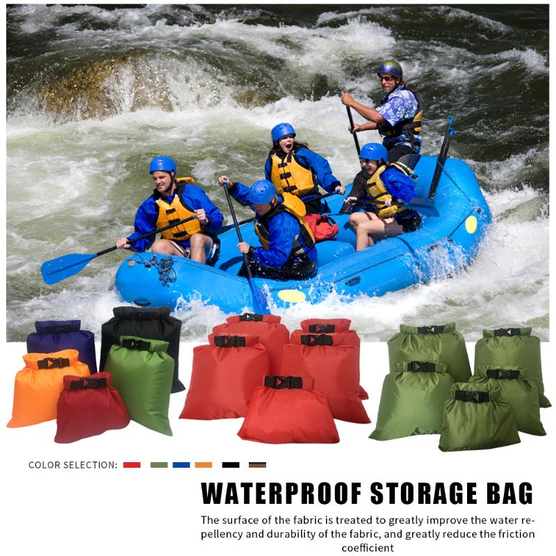 5pcs Ultralight Swimming Bag Dry 6 Colors Outdoor Nylon Kayaking River Storage Drifting PVC Waterproof Rafting Bag