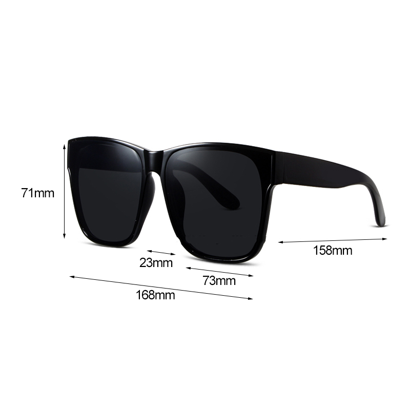 Image 5 - Vazrobe (168mm) Polarized Sunglasses Oversized Women Men Sun Glasses for Woman Fashion Black Wide Face Anti Reflection UV400Womens Sunglasses   -