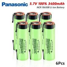 새로운 원래 파나소닉 NCR18650B 3.7 v 3400mah 18650 리튬 충전식 배터리 방전 20A 용접 니켈 시트 배터리