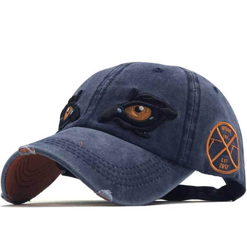 3D Embroidered Eye Cap For Men Cotton Sports Baseball Caps Fashion Black Pattern Women Snapback Army Male Cap Hip Hop Bone