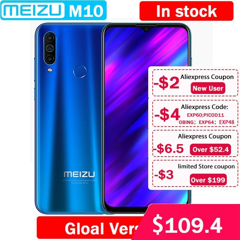 Meizu M10 Global Version 3GB 32GB MTK P25 Octa Core 4000mAh Big Battery Triple Camera Android phone|Cellphones| - AliExpress