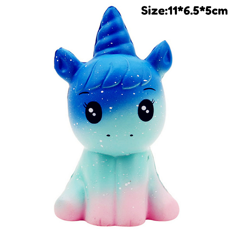 Starry Sky Unicorn Slow Rising Simulation Kawaii Animal Squishy Toy Anti Stress Reliever Soft Squeeze Gift Toys For Children