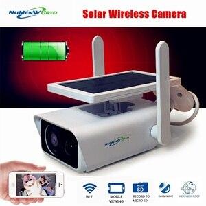 Беспроводная ip-камера на солнечной батарее, 1080P, домашняя камера безопасности, Wi-Fi, IP66 Водонепроницаемая двухканальная аудиосвязь, перезаря...