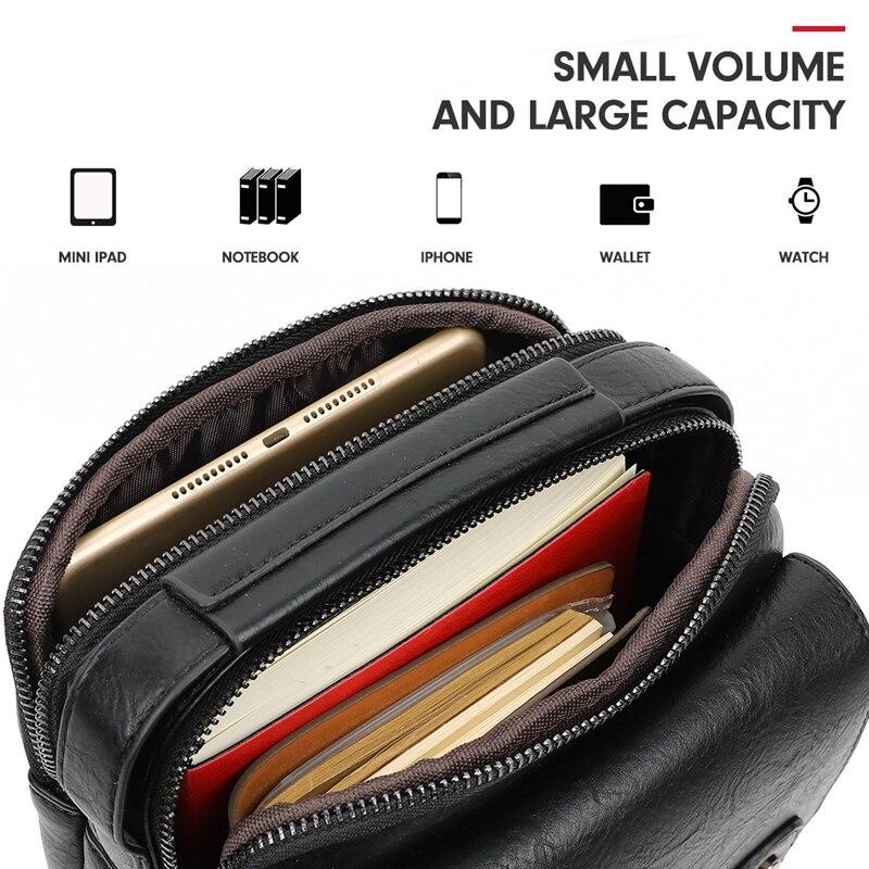 Image 5 - Alena Culian New Casual Leather Mens Business Messenger Bag  Zipper Hasp Design Open Handbags For Men Black Flap Shoulder  BagsCrossbody Bags