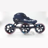 3X125mm knob buckle inline professional speed skates shoes 8 layers carbon fiber roller skates patines 125mm big wheel Marathon