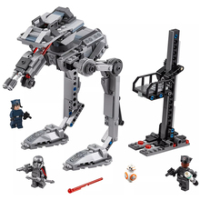HOT Star Wars Solo First Order AT-ST fighter Finn Rose Phasma STARWARS Building Blocks Sets Bricks Classic Model Kids Toys